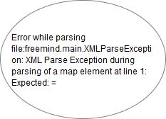 Error while parsing file